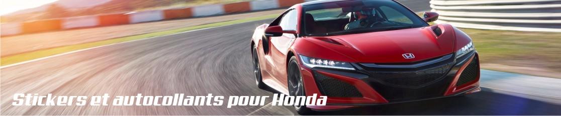 Stickers et autocollants pour Honda