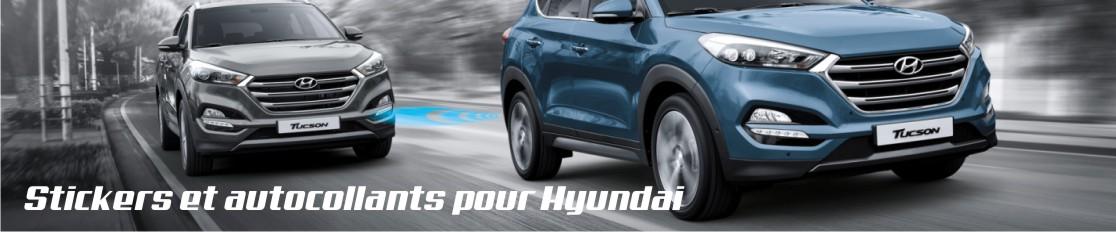 Stickers et autocollants pour Hyundai