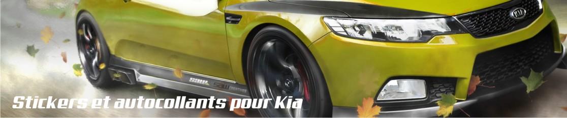 Stickers et autocollants pour Kia