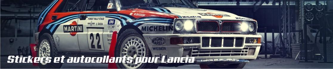 Stickers et autocollant pour Lancia