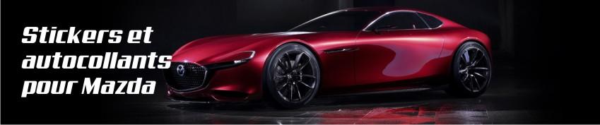 Stickers et autocollants pour Mazda