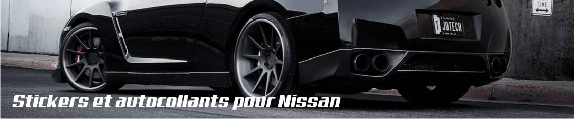 Stickers et autocollants pour Nissan