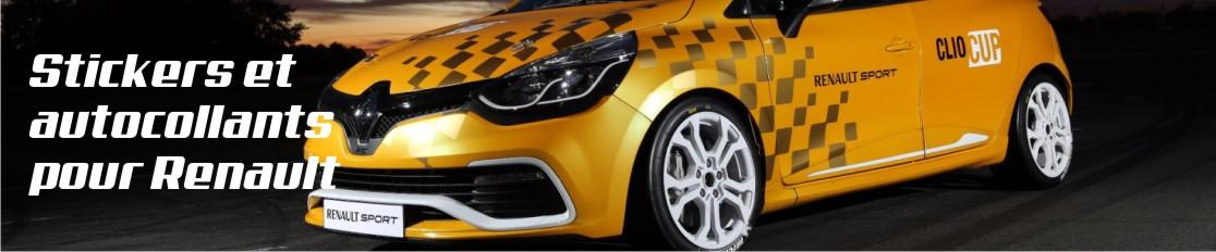 Stickers et autocollants pour Renault