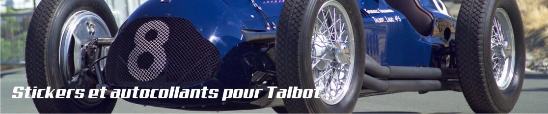 Stickers et autocollants pour Talbot