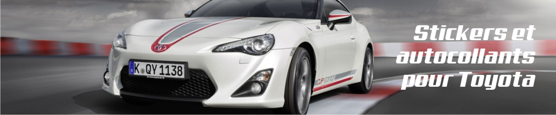 Stickers et autocollants pour Toyota