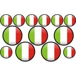 autocollant drapeau Italie rond