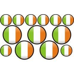 autocollant drapeau Irlande rond