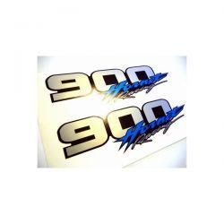 2 Stickers HONDA HORNET 900 - Autocollant Honda 37