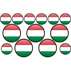 autocollant drapeau Hongrie rond