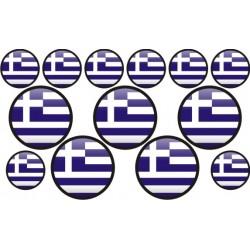 autocollant drapeau Grèce rond