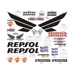 HONDA Repsol Kit déco Stickers - Planche Autocollants Honda 55