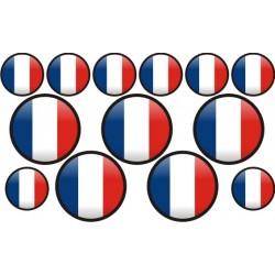 autocollant drapeau France rond