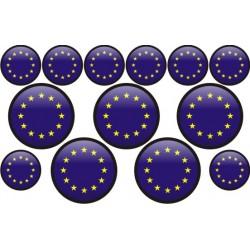 autocollant drapeau Europe rond