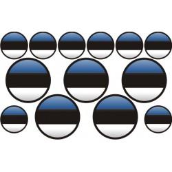 autocollant drapeau Estonie rond