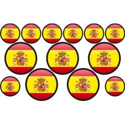 autocollant drapeau Espagne rond