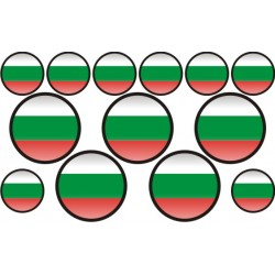 autocollant drapeau Bulgarie rond