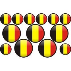 autocollant drapeau Belgique rond