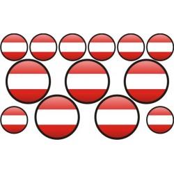 autocollant drapeau Autriche rond