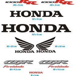 Honda CBR 1000 RR Fireblade Stickers - Autocollants Honda CBR 1000 RR Fireblade