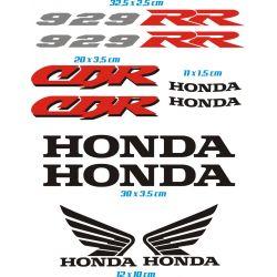 Honda CBR 929 RR Stickers - Autocollants Honda CBR 929 RR