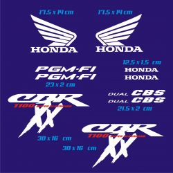 Honda Honda CBR XX 2000 Stickers - Autocollants Honda CBR XX 2000