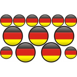 autocollant drapeau Allemagne rond