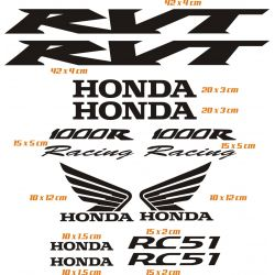 Honda RVT 1000 R Stickers - Autocollants Honda RVT 1000 R