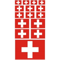 sticker drapeau suisse