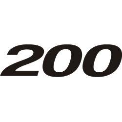 Kawasaki 200 Sticker - Autocollant Kawasaki - 77