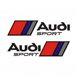 Audi Sport - 2 stickers autocollant noir