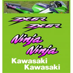 Kawasaki ZX6R Ninja Stickers - Planche Autocollants Kawasaki - 95