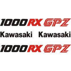 Kawasaki GPZ 1000 RX Stickers - Planche Autocollants Kawasaki - 98