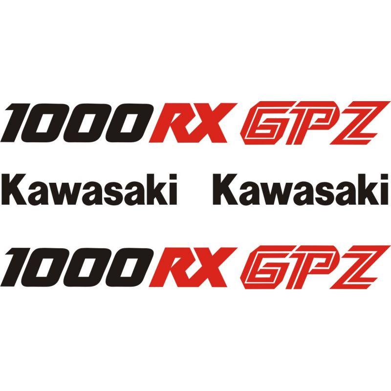 Kawasaki Gpz 1000 Rx Stickers Planche Autocollants Kawasaki 98