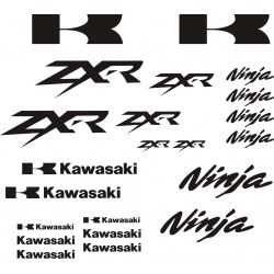 Kawasaki ZXR Ninja Stickers - Planche Autocollants Kawasaki - 101