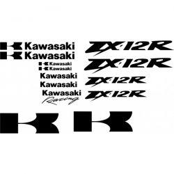 Kawasaki ZX12R - Racing Stickers - Planche Autocollants Kawasaki - 104