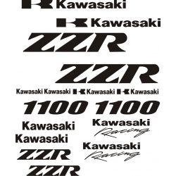 Kawasaki 1100 ZZR Stickers - Planche Autocollants Kawasaki - 105