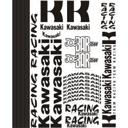 Kawasaki Pack Stickers - Planche Autocollants Kawasaki - 106