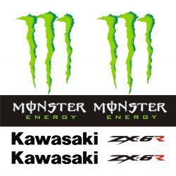 Kawasaki ZX6R Stickers - Planche Autocollants Kawasaki 113