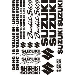Suzuki Bandit 600S Stickers - Planche Autocollants Suzuki 10