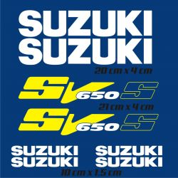 Suzuki 650 SVS Stickers - Planche Autocollants Suzuki 38