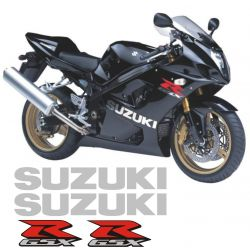 Suzuki GSXR Chrome Stickers - Autocollants Suzuki 40