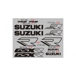 Suzuki GSXR 750 1988-89 - Stickers - Autocollants Suzuki 111