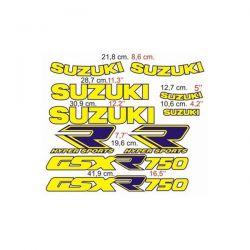 Suzuki GSXR 750 - 1988-89 Stickers - Autocollants Suzuki 113