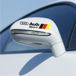 Stickers Audi pour rétroviseurs 2