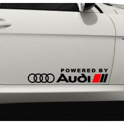 2 autocollants POWERED by AUDI - bas de portes