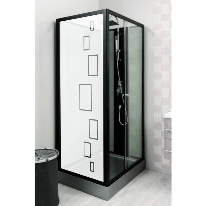 film aspect verre d poli pour vitre de douche design 1. Black Bedroom Furniture Sets. Home Design Ideas
