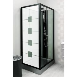Film aspect verre dépoli pour vitre de douche - Design 3