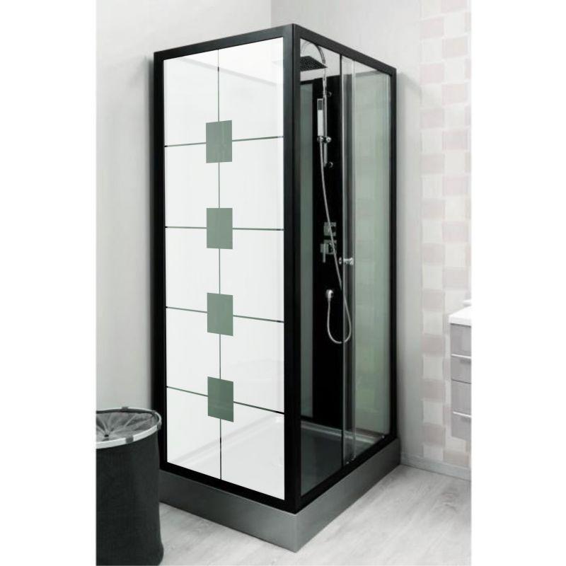 Film aspect verre d poli pour vitre de douche design 3 for Vitre de douche