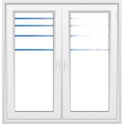 Film aspect verre dépoli pour fenêtre - Design 6
