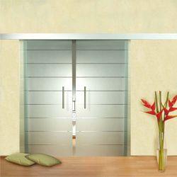 Film aspect verre dépoli pour porte vitrée - Design 11